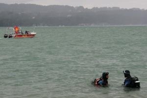 Bei einem Tauchunfall im Starnberger See starb ein Tauchlehrer. Rettungstaucher fanden seinen Tauchschüler unverletzt an einer Dekompressionsstation unter Wasser. Foto: Jürgen Römmler