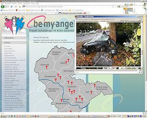 Eine Online-Karte zeigt die Unfallstellen im Landkreis Gütersloh. Foto: LK GT