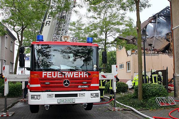 Explosion in Münster: Ein Mensch kam in dem Gebäude ums Leben. Foto: Ralf Hettler