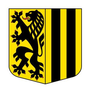 Wappen der Stadt Dresden.