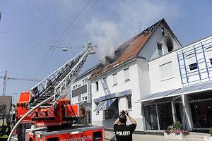Brand in Stuttgart-Vaihingen. Es entstand ein Schaden von rund 300.000 Euro. Foto: 7aktuell.de