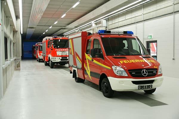 Ziegler Feuerwehrfahrzeuge vor der Auslieferung. Foto: Hegemann