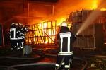 Fast das gesamte Inventar eines Weihnachtsmarktes wurde bei diesem Brand zerstört. Foto: Ehresmann