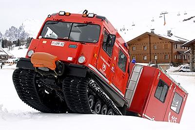Hägglund bei der Feuerwehr Seiser Alm. Foto: Benkert