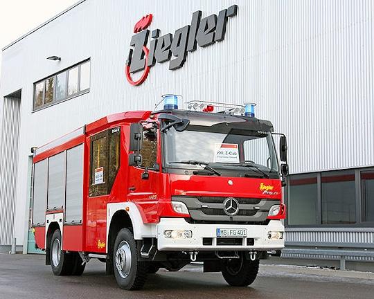 Neu ausgeliefert: HLF 20/16 der Feuerwehr Gmund am Tegernsee. Foto: Ziegler