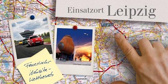 Dräger-Website-Wettbewerb 2013: Eine Gewinnergruppe darf zum Training zur Flughafenfeuerwehr Leipzig reisen. Grafik: Dräger