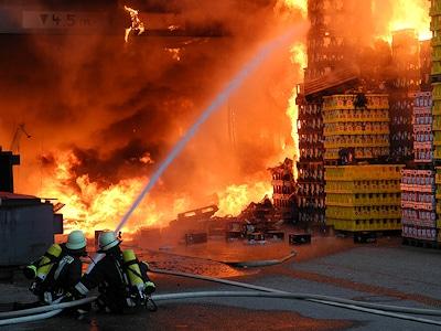 Großbrand in Reichertshofen. Foto: Werner Hammerschmid