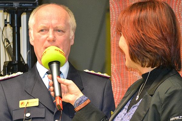 Manfred Gerdes, Präsident des Landesfeuerwehrverbandes Brandenburg im Interview. Foto: Heike Stachowiak