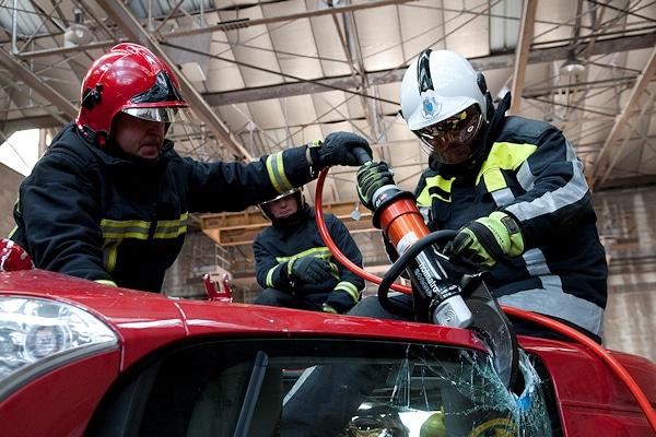 """Holmatro startet in Deutschland mit einer Ausbildungsveranstaltung. Die """"Rescue Experience"""" findet erstmals auf der Rettmobil in Fulda statt. Foto: Holmatro"""