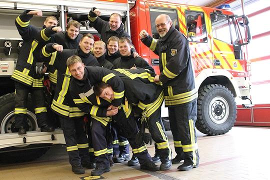 Spaß muss auch beim Feuerwehrdienst sein. Foto: Feuerwehr Mildstedt