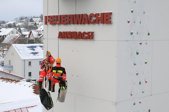 Höhenretter der Feuerwehr Ansbach. Foto: Alex Müller