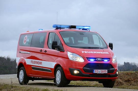 Ford Custom als Feuerwehrfahrzeug. Foto: Preuschoff