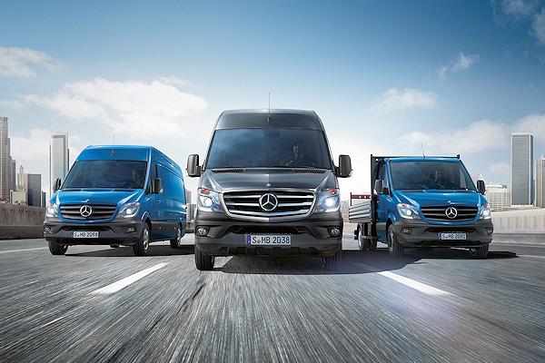 Nicht nur optisch hat Mercedes-Benz an seiner Sprinter-Baureihe einiges verändert. Vor allem die inneren Werte wie Sicherheit und Verbruach wurden optimiert. Foto: Mercedes-Benz