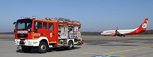 Flughafenfeuerwehr Köln/Bonn. Foto: Bunzel