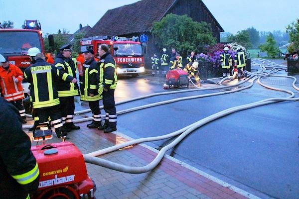 Hochwasser in Lachendorf im Kreis Celle. Foto: Rebmann/Feuerwehr