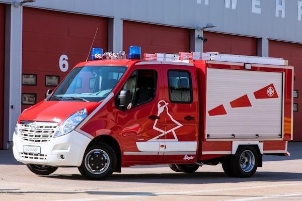 Opel Movano als KLF mit Ziegler-Aufbau, ebenfalls auf dem Opel-Stand bei der RETTmobil zu sehen. Foto: Opel