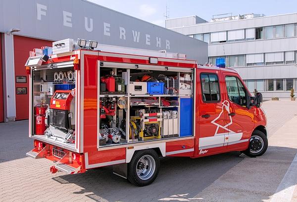 Gut ausgenutzt hat Ziegler den vorhandenen Platz bei der Unterbringung der Normbeladung des KLF. Foto: Opel
