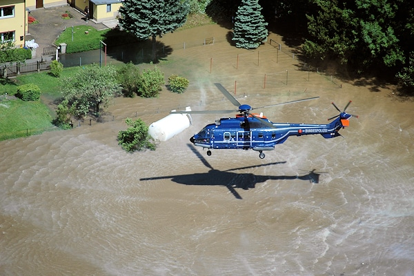 Archivfoto vom Katastrophenhochwasser 2013. Foto: Bundespolizei