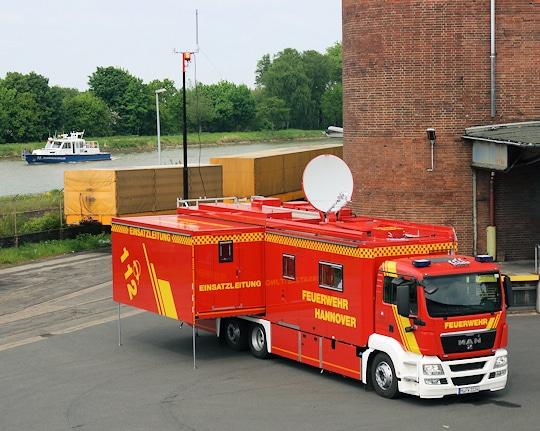 Einsatzleitwagen (ELW 3) der Feuerwehr Hannover. Foto: Hegemann