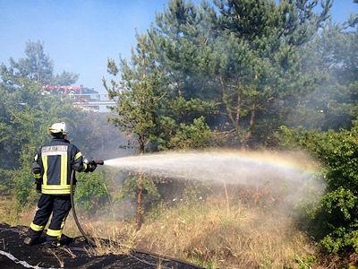 Flächenbrand in Nordhorn. Foto: Feuerwehr