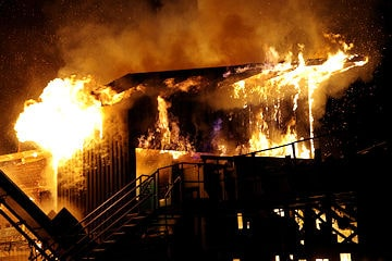 Feuer in Sägewerk Krumbach. Foto: Weiss/new-facts.eu