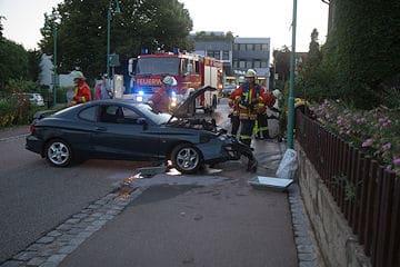 Feuerwehrmann in Remseck verunfallt. Foto: www.7aktuell.de/Dan Becker