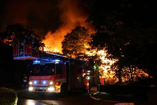 Brand in Kirche in Garbsen: Feuer zerstört Gotteshaus. Foto: Feuerwehr