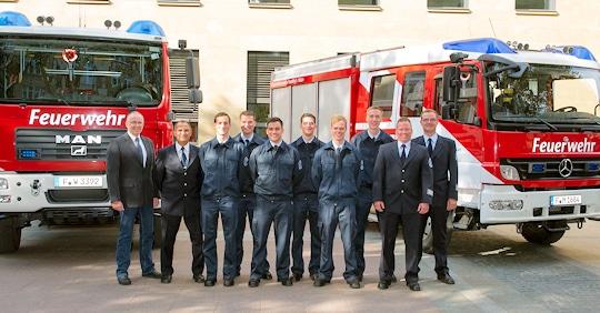 Erfolgreicher Abschluss für die neuen Werkfeuerwehrmänner. Foto: Fraport