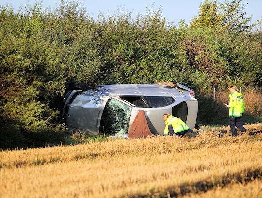 Tödlicher Unfall auf der A4 bei Bautzen. Foto: Christian Essler