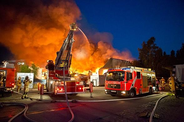 Großbrand in Berlin. Foto: Tzscheuschner