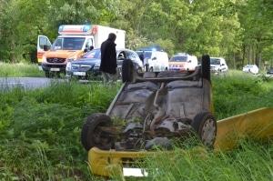 Unfall im Seitenstreifen. Symbolfoto: Polizei