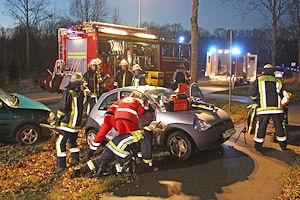 Pkw-Unfall in Schwarzenbek. Foto: Timo Jann
