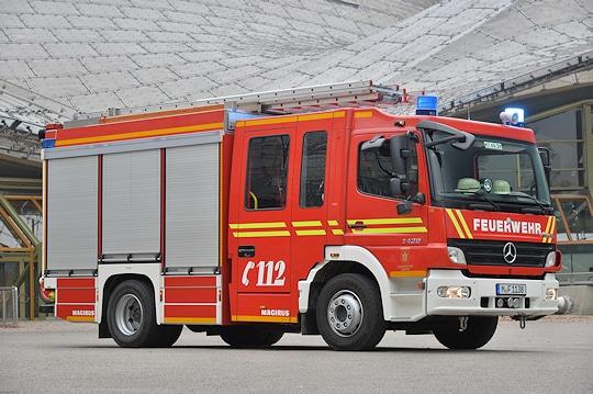 HLF der Feuerwehr München. Foto: Michael Rüffer