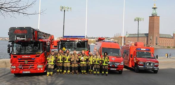 Stockholmer Brandschützer. Foto: A. Müller