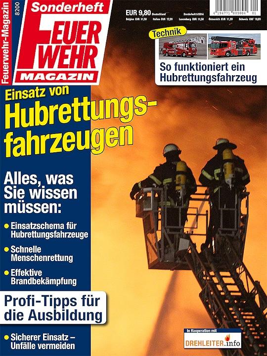 """Feuerwehr-Magazin-Sonderheft """"Einsatz von Hubrettungsfahrzeugen""""."""
