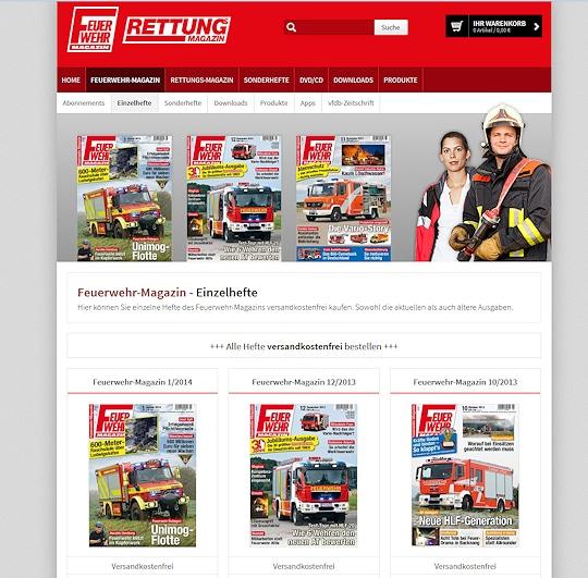 Feuerwehr-Magazin online bestellen - das funktioniert versandkostenfrei im Feuerwehr-Magazin-Shop!