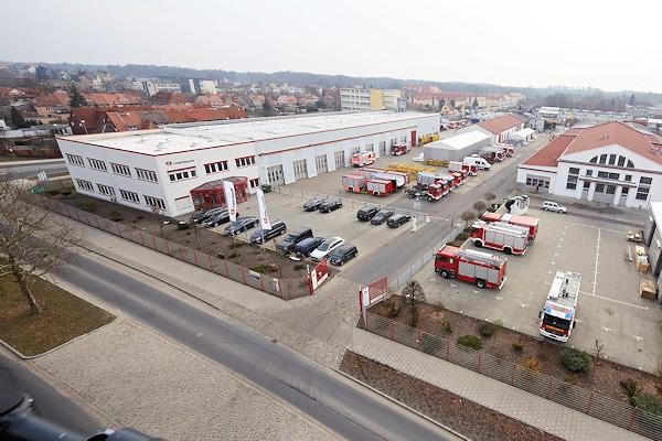 Rosenbauer Deutschland in Luckenwalde: Der Standort ist in den letzten Jahren immer weiter ausgebaut worden. Foto: Rosenbauer