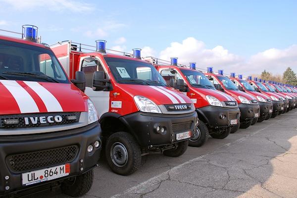 134 neue Waldbrand-TLF für die Feuerwehr in Bulgarien. Foto: Iveco Magirus