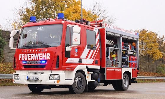 MLF Feuerwehr: Auf einem abgelasteten 10-Tonnen-Fahrgestell (Iveco 100 E 18 D) ließ sich die FF Burladingen (BW) ihr neues MLF von Magirus aufbauen. Foto: Hegemann