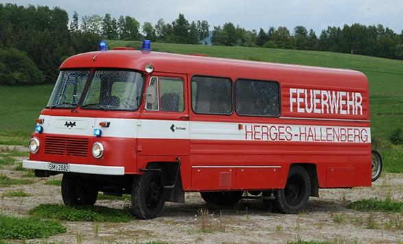 Löschbus. Foto: Alexander Müller