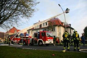 Tödlicher Brand in Duderstadt. Foto: Rabe/Feuerwehr
