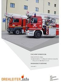 Überprüfung von Hubarbeitsbühnen.
