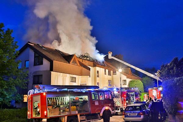 Brand in Backnang: Von Polizeihubschrauber entdeckt: Foto: Beytekin
