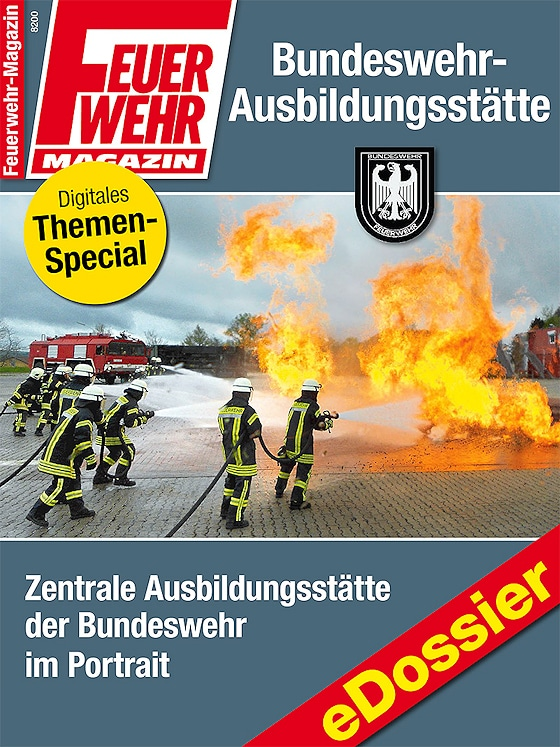 """eDossier """"Bundeswehr-Ausbildungstätte"""". Hier werden die Mitglieder der Bundeswehr Feuerwehr ausbildet."""