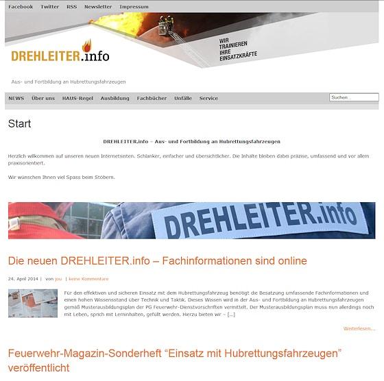 Frisches Layout: Neue Website von drehleiter.info