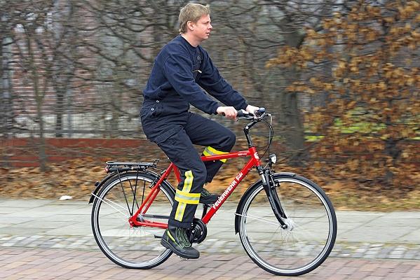 Das Feuerwehr-Fahrrad des Feuerwehr-Magazins: hohe Qualität als Anspruch. Foto: Hegemann