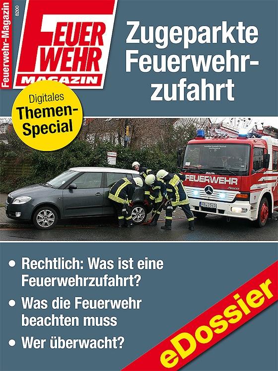 """eDossier """"Zugeparkte Feuerwehrzufahrt""""."""