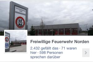 Die Facebook-Seite der Freiwilligen Feuerwehr Norden. Screenshoot: Facebook