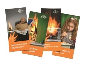 Brandschutz auf Türkisch, Polnisch, Russisch und Englisch. Dieser Flyer klärt in mehreren Fremdsprachen auf. Foto: www.rauchmelder-lebensretter.de
