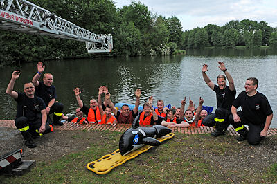 Gruppenfoto einer Challenge in Dorsten. Foto: Guido Bludau
